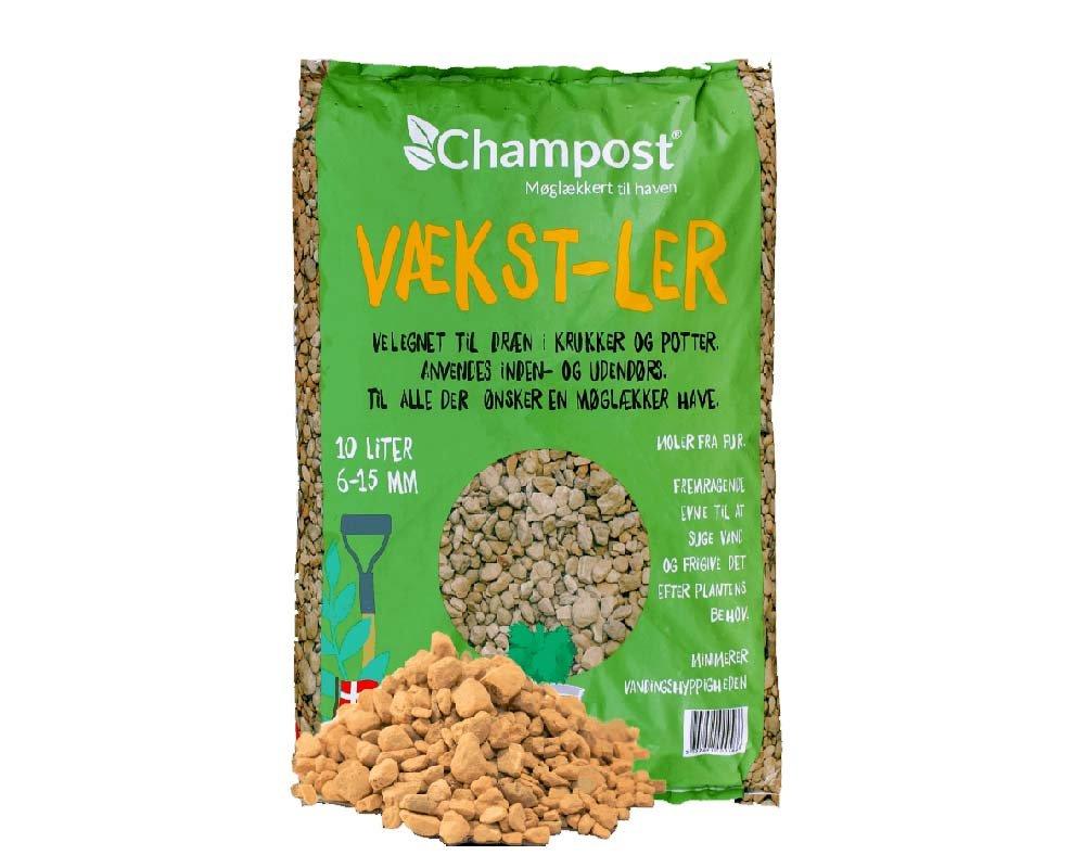 Champost vækst-ler, 10 liter