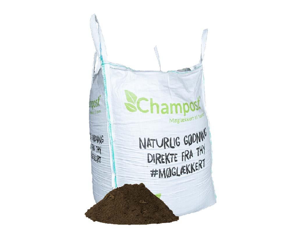 Champost Bigbag, Harpet muld - 900 liter